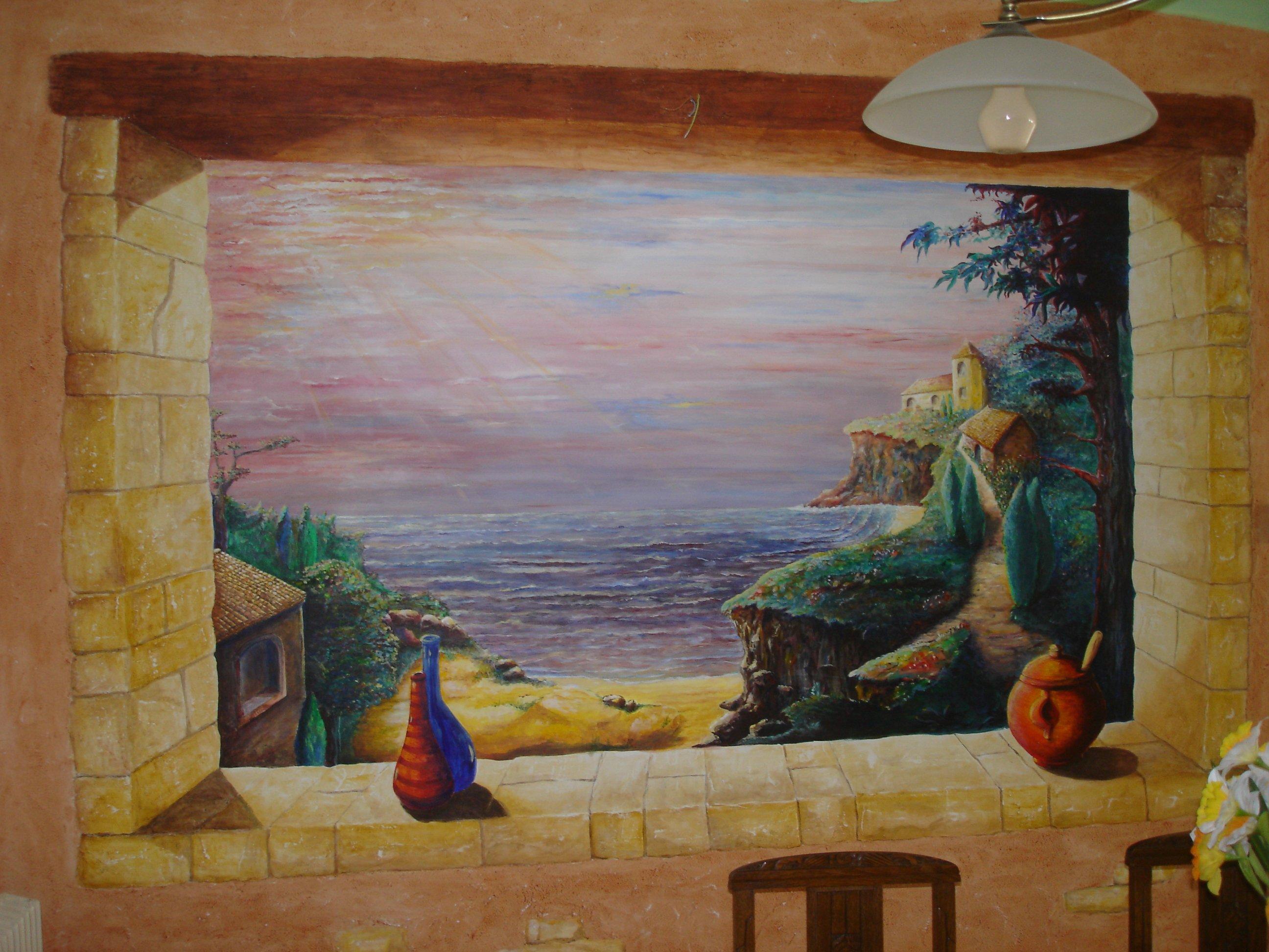 fin de journee marine at artiste peintre fresques trompe l 39 oeil dans l 39 yonne 89. Black Bedroom Furniture Sets. Home Design Ideas