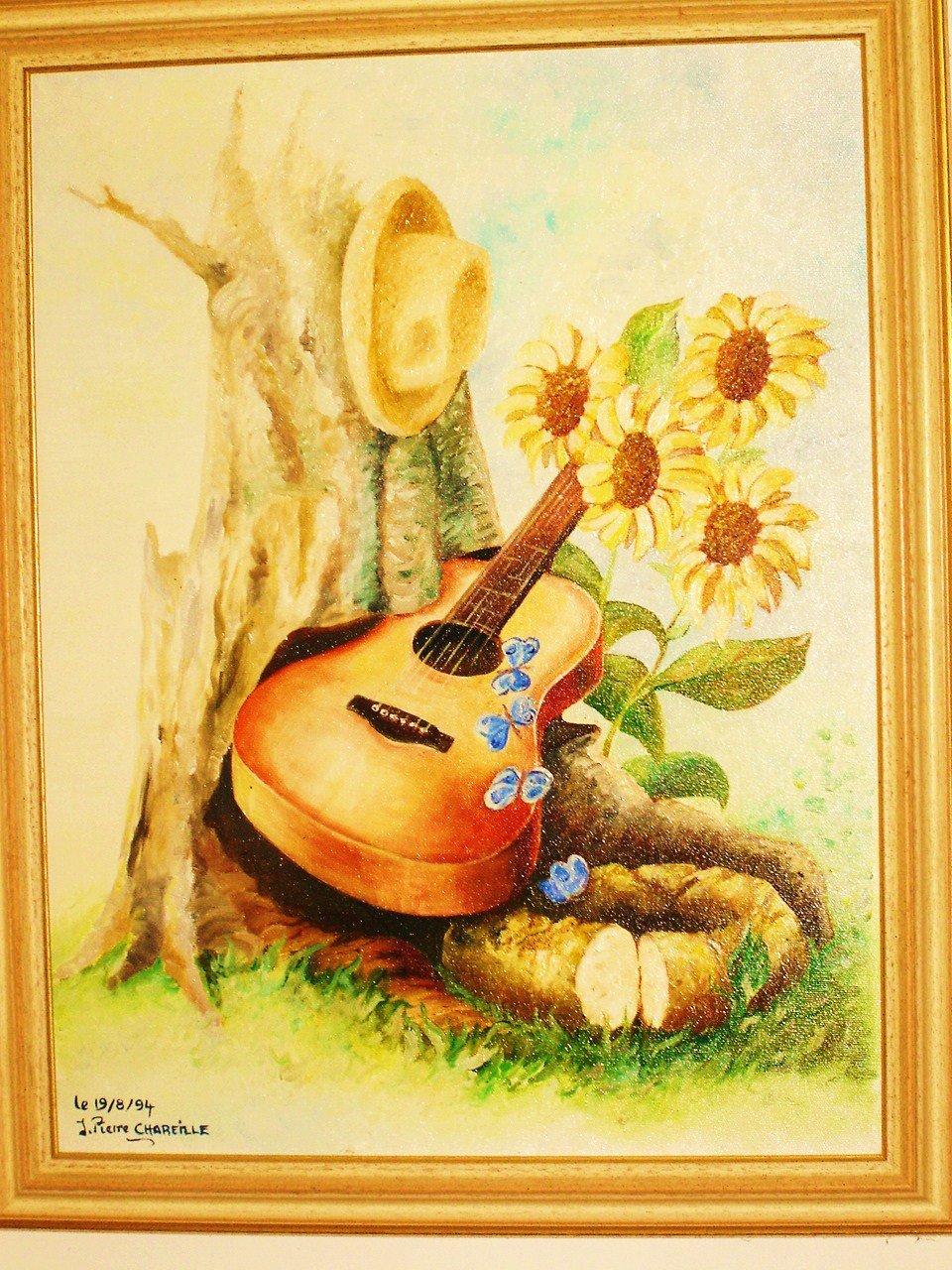 Amiti musique le pass at artiste peintre fresques trompe l 39 oeil d - Tableau peinture al huile ...