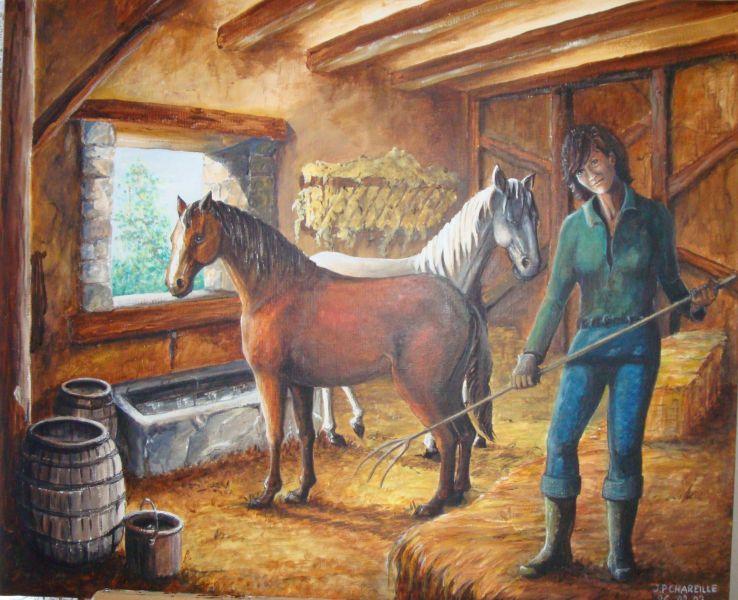 mes chevaux et moi at artiste peintre fresques trompe l 39 oeil dans l 39 yonne 89. Black Bedroom Furniture Sets. Home Design Ideas