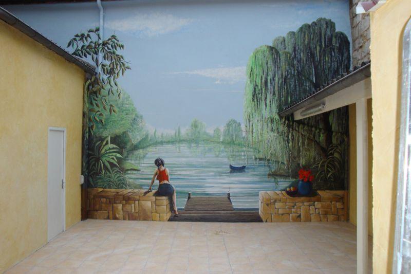 fresque trompe l oeil archive at artiste peintre fresques trompe l 39 oeil dans l 39 yonne 89. Black Bedroom Furniture Sets. Home Design Ideas