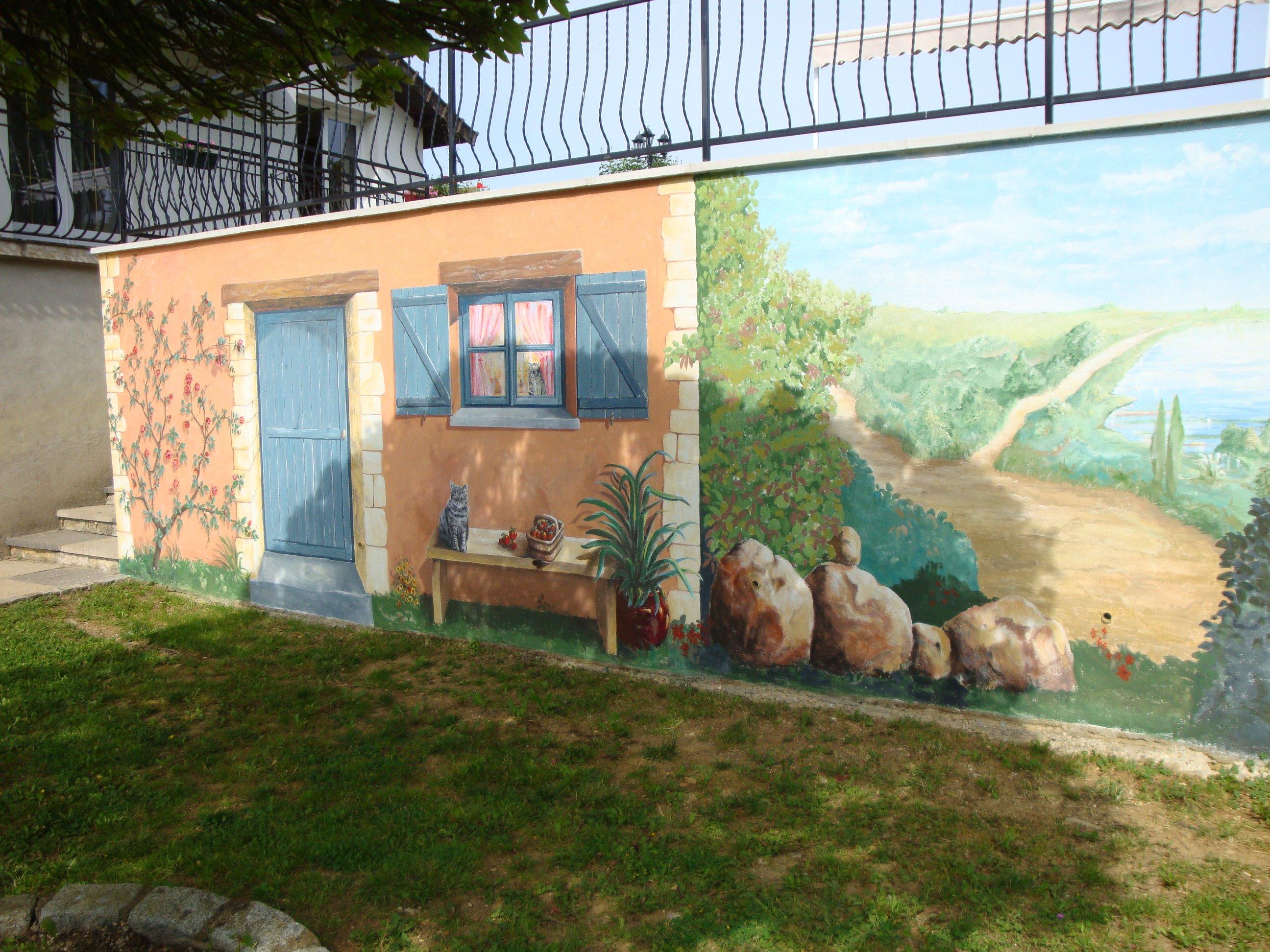 Artiste peintre fresques trompe l 39 oeil dans l 39 yonne 89 - Fresque sur mur exterieur ...