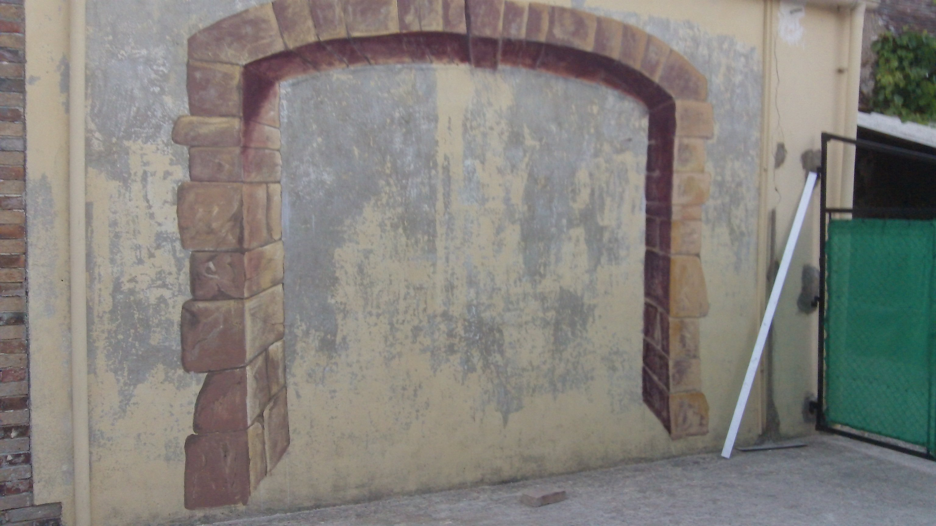 trompe l oeil sur mur de grange at artiste peintre fresques trompe l 39 oeil dans l 39 yonne 89. Black Bedroom Furniture Sets. Home Design Ideas