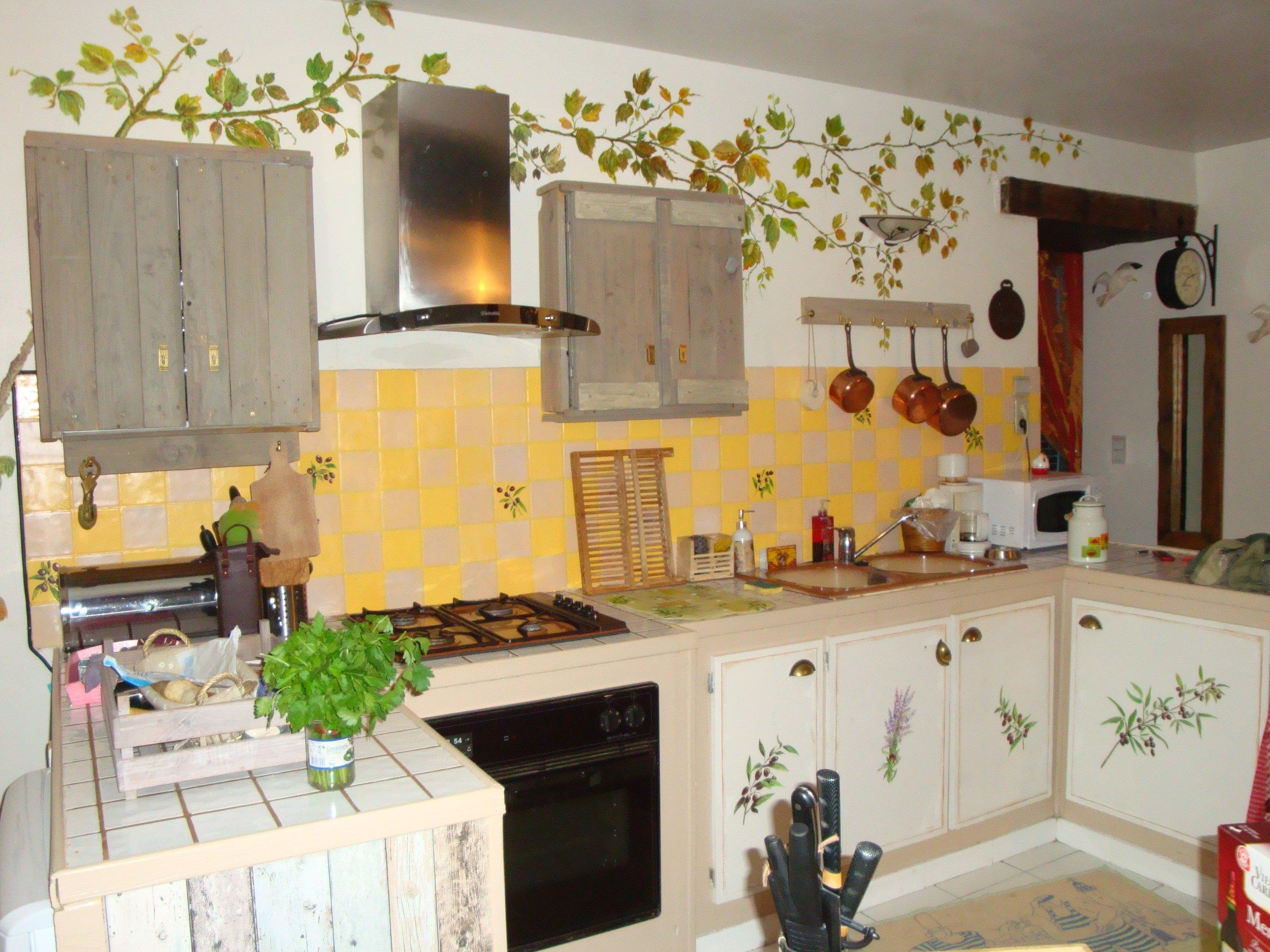 d cors dans une cuisine at artiste peintre fresques